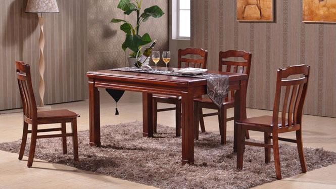 家用实木餐桌椅组合 桌子 餐厅桌椅实木家具可定制123# 135*85*76