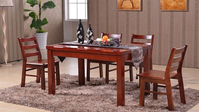 家用实木餐桌椅组合 桌子 餐厅桌椅实木家具可定制127# 135*85*76