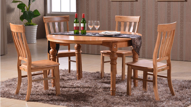 家用实木餐桌椅组合 桌子 餐厅桌椅实木家具可定制132# 135*85*76