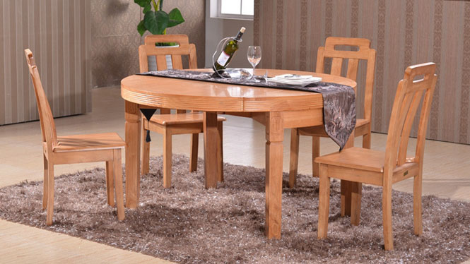 家用实木餐桌椅组合 桌子 餐厅桌椅实木家具可定制138# 135*85*76