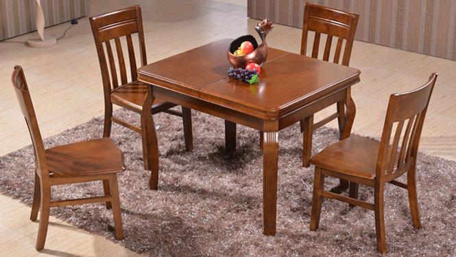 家用实木餐桌椅组合 桌子 餐厅桌椅实木家具可定制206# 135*85*76