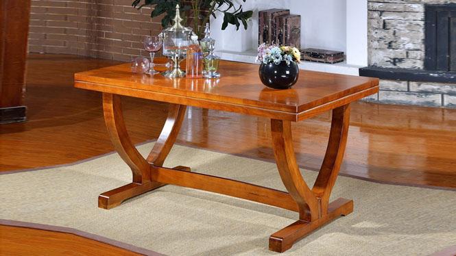 家用实木餐桌椅组合 桌子 餐厅桌椅实木家具可定制1515# 150*90*76
