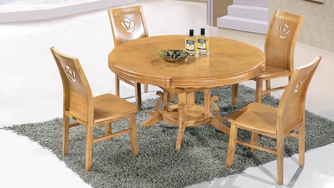 家用实木餐桌椅组合 桌子 餐厅桌椅实木家具可定制150# 150*90*76
