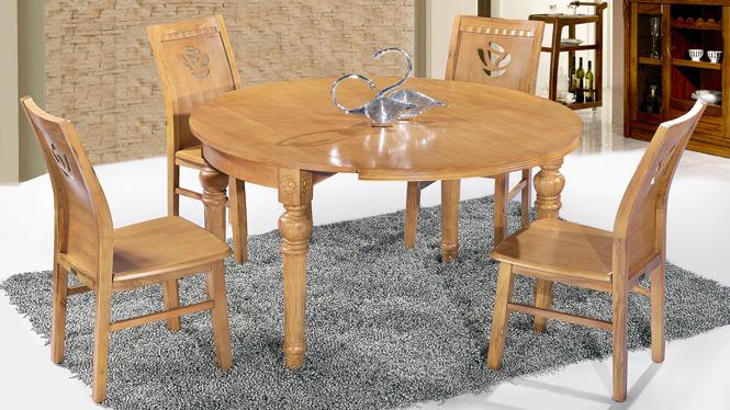 家用实木餐桌椅组合 桌子 餐厅桌椅实木家具可定制152# 150*90*76