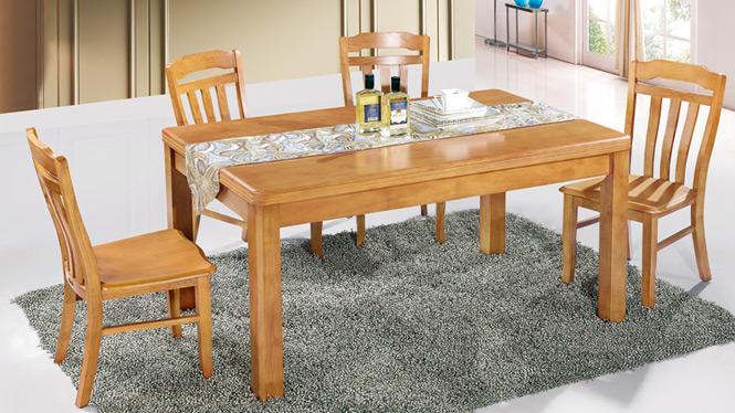 家用实木餐桌椅组合 桌子 餐厅桌椅实木家具可定制162# 150*90*76