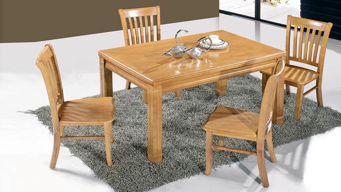 家用实木餐桌椅组合 桌子 餐厅桌椅实木家具可定制164# 150*90*76