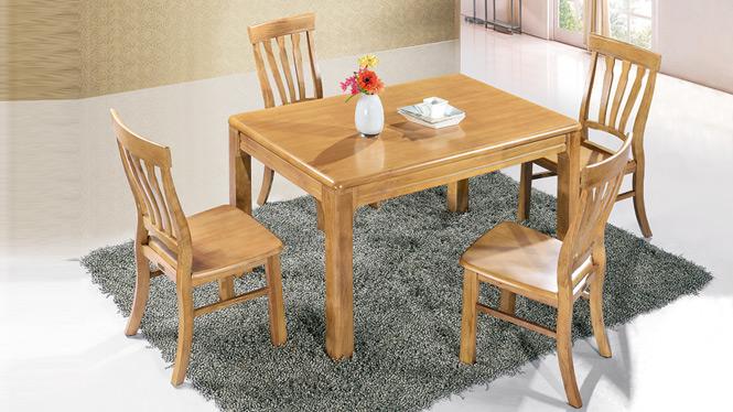 家用实木餐桌椅组合 桌子 餐厅桌椅实木家具可定制166# 150*90*76
