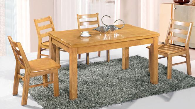 家用实木餐桌椅组合 桌子 餐厅桌椅实木家具可定制167# 150*90*76