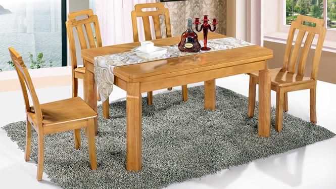 家用实木餐桌椅组合 桌子 餐厅桌椅实木家具可定制168# 150*90*76
