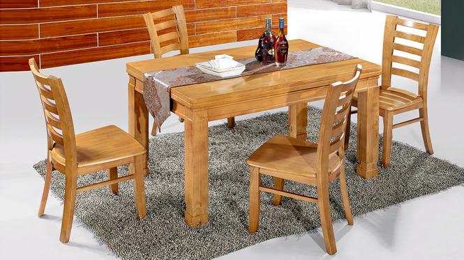 家用实木餐桌椅组合 桌子 餐厅桌椅实木家具可定制169# 150*90*76