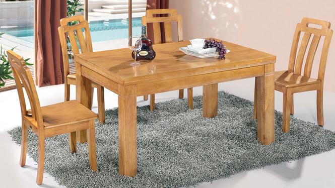 家用实木餐桌椅组合 桌子 餐厅桌椅实木家具可定制170# 150*90*76