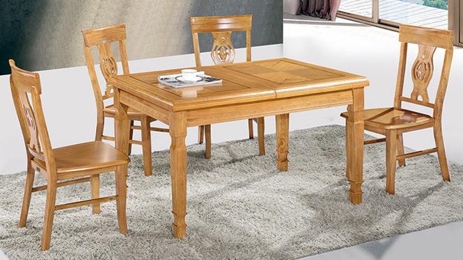 家用实木餐桌椅组合 桌子 餐厅桌椅实木家具可定制248# 150*90*76