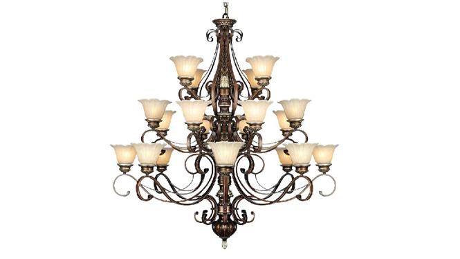 高品质欧式树脂吊灯 20头三层酒店大堂吊灯 062-8+8+4