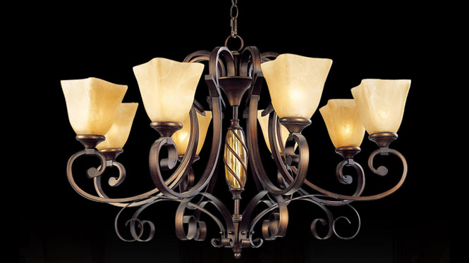 厂家批发美式复古吊灯 欧式铁艺客厅卧室餐厅 吊灯 D003-8