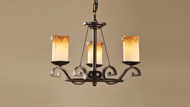 热销推荐 欧式铁艺复古客厅吊灯 欧式复古吊灯 CH028-3