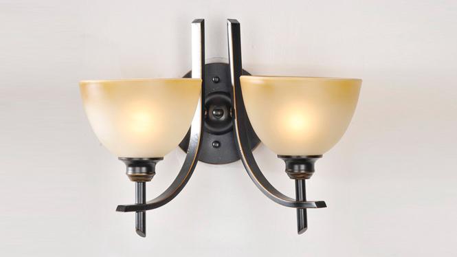 厂家批发直销欧式铁艺壁灯 走廊双头壁灯 WL034-2