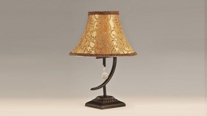 欧式书房卧室灯饰 高品质布艺床头台灯 TB034-1