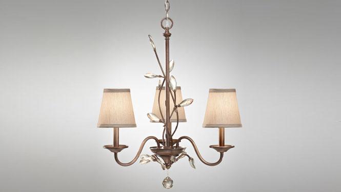 简欧式吊灯田园客厅灯 创意现代铁艺树脂餐厅灯饰具 7093-3H