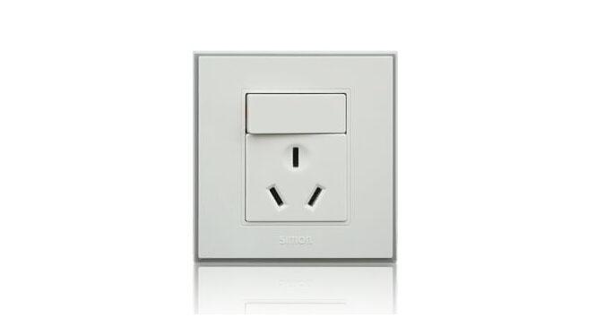 西蒙(Simon) 开关插座56系列16A三孔插座加开关一开单控V51682