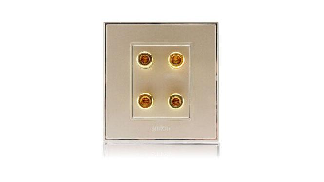 西蒙(Simon)开关插座86型面板56系列二位音箱插座V55402-5