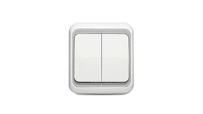 西蒙60系列开关插座欧式 二开双控 60397-50 正品