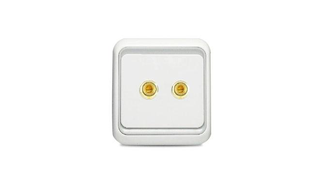 西蒙电气开关插座面板正品60系列 一位两头音响插座 单音箱