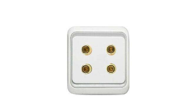 西蒙电气开关插座60系列两位音箱插座面板60欧式四头音箱插
