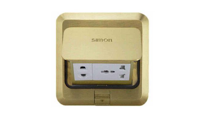 西蒙地插座西蒙全铜系列TD120F5多功能五孔地插铜色正品