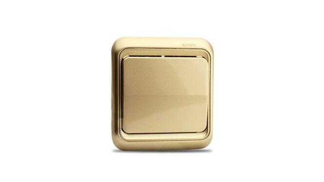 西蒙开关插座面板西蒙60系列香槟色一开单控单开单控开关