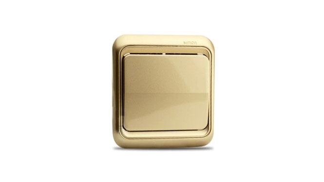 西蒙开关插座面板 西蒙60系列香槟色单开双控一开双控换向开关插座