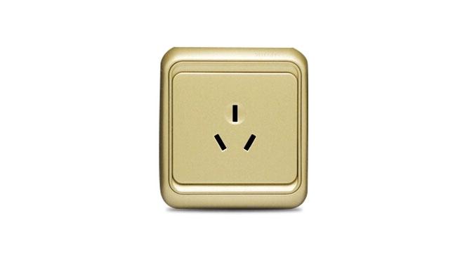 西蒙开关插座面板 西蒙60系列香槟色16A三孔 空调插座60436-50XB