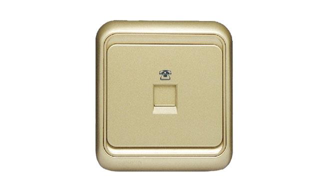 西蒙开关插座60系列欧式香槟金色86型 电话插座面板60480-50XB