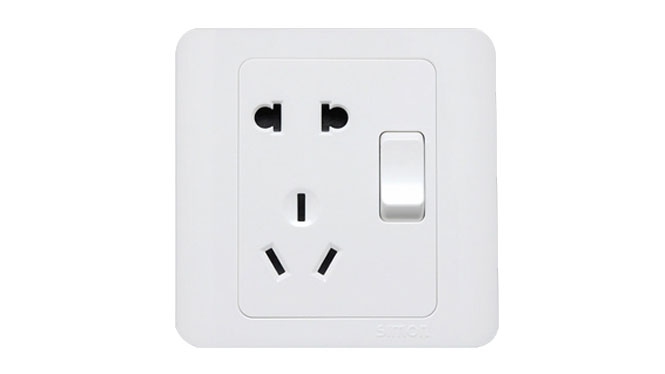 西蒙开关插座面板C3系列雅白色五孔插座单开关插座面板