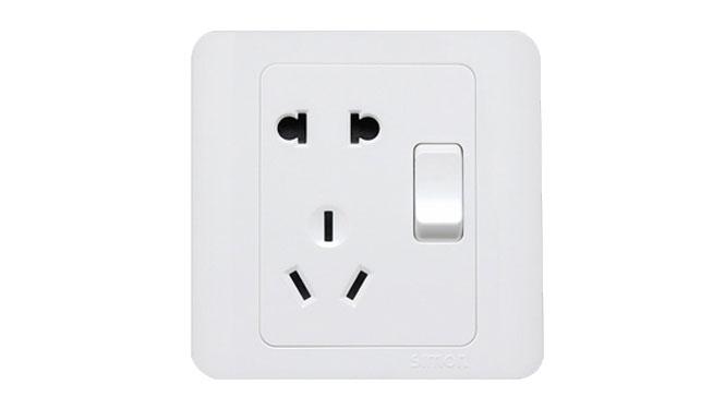 西蒙开关插座面板C3系列雅白色五孔插座双开关插座面板