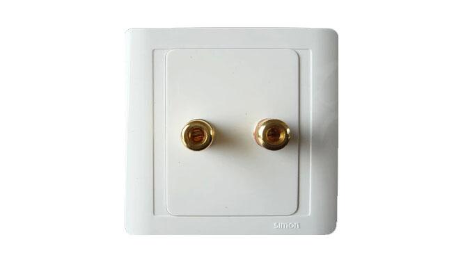 西蒙开关插座 西蒙开关55系列 一位音响插座正品N55401 开关面板