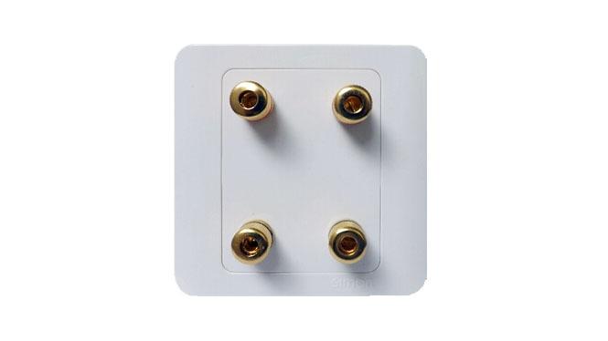西蒙开关插座 西蒙C3系列 二位音响插座面板 西蒙开关套餐面板