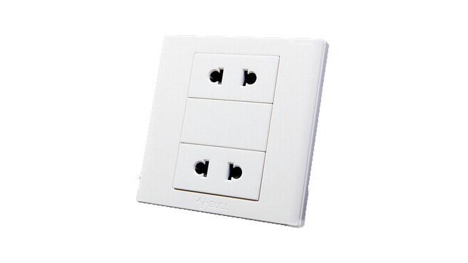 公牛开关插座 四孔插座 儿童保护门二二插86型电源插座G06Z222