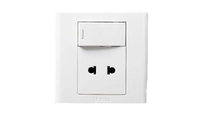 正品公牛墙壁插座 G06系列一开单控+两孔10A插座 一开二孔 G06E202