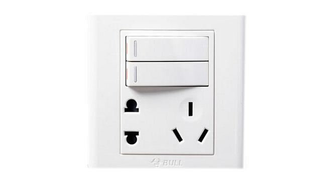 公牛墙壁开关插座面板插座 电源 二开+5孔 二开单控+五孔 G06E423