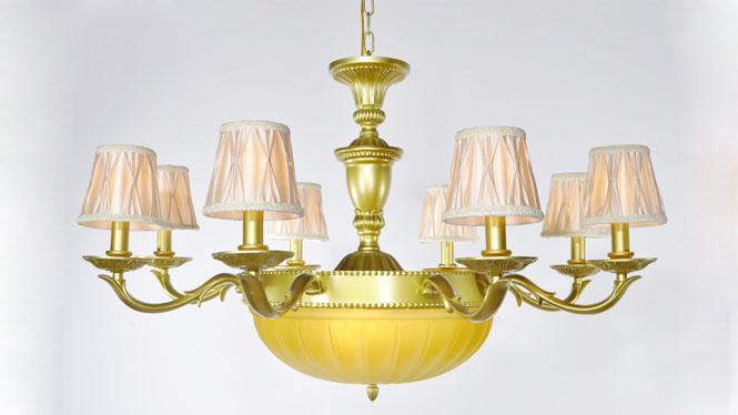 欧式蜡烛水晶吊灯客厅灯卧室餐厅灯具现代简约创意水晶灯灯饰 805-8+3A
