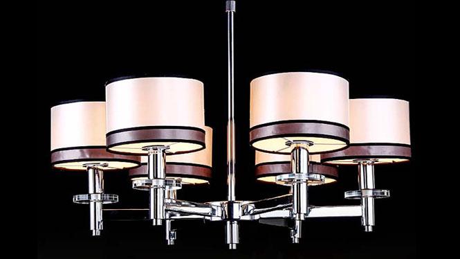 美式乡村现代北欧田园欧式复古卧室书房餐厅客厅简约创意吊灯 8026-6-8