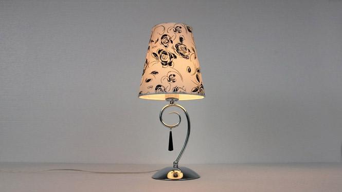 现代简约铁艺水晶吊缀可调光客房卧室床头台灯灯饰灯具 TD042