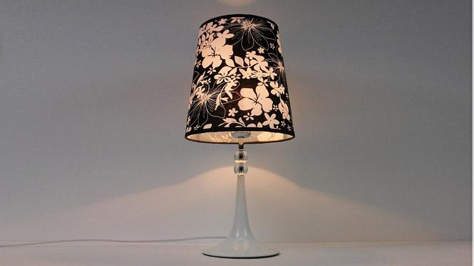 现代时尚简约设计客厅卧室床头书房礼品亚麻布艺调光台灯 TD046