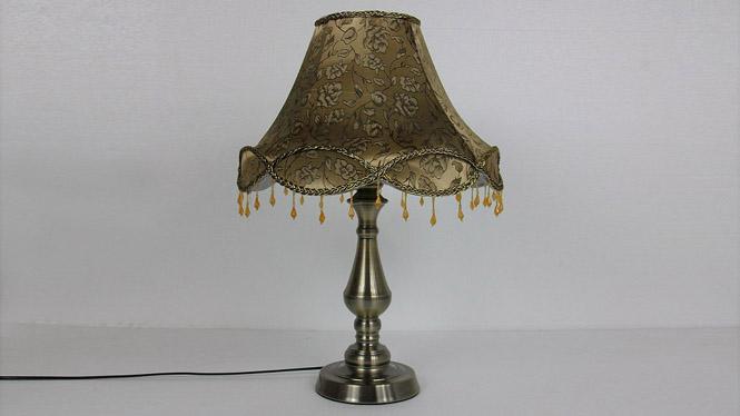 欧式古典灯具台灯欧式仿古布艺田园台灯卧室床头灯 TD047