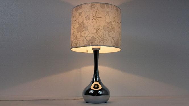 简约现代台灯温馨卧室床头灯时尚宜家布艺装饰创意可调光 TD050