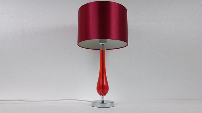 台灯 卧室 床头 欧式 田园台灯 布艺 蕾丝台灯 红色婚庆 装饰台灯 TD052