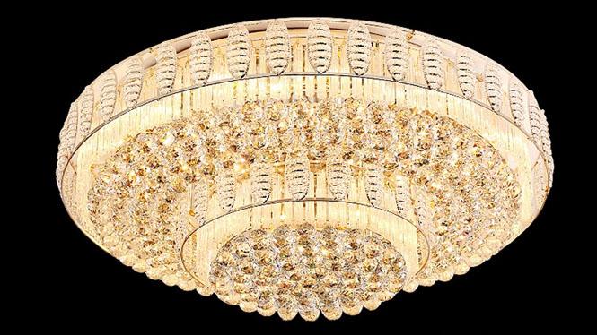 豪华卧室客厅灯水晶吸顶灯新款S金水晶灯LED灯饰灯