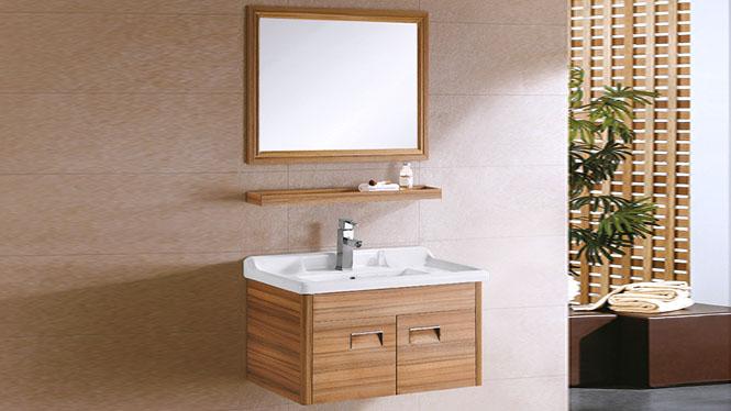 太空铝浴室柜组合卫浴柜洗脸盆柜卫生间洗手盆柜 镜柜挂墙 820mm YL-6004