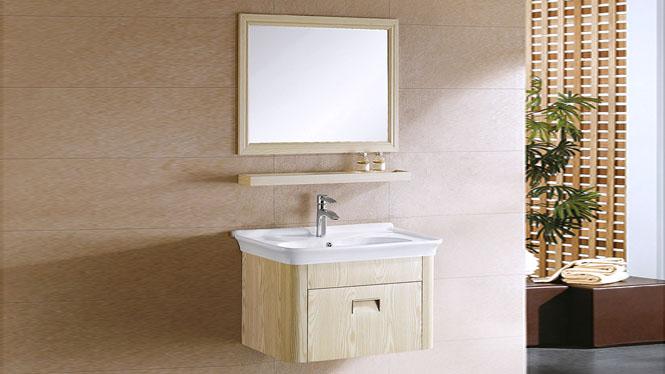 太空铝浴室柜现代简约卫浴柜洗脸盆柜组合挂墙式浴室柜 800mm YL-6005