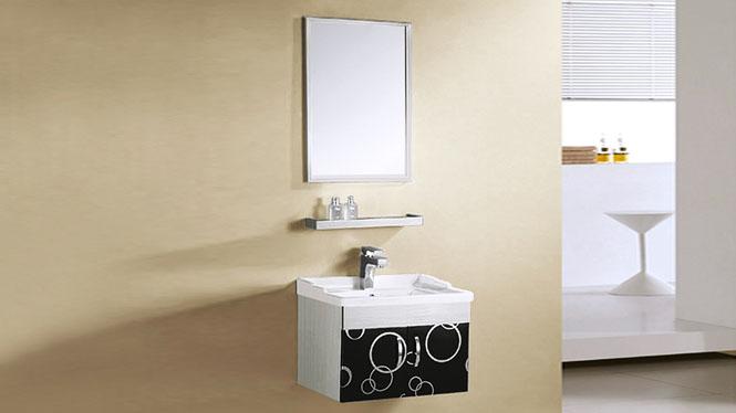 不锈钢浴室柜组合洗手盆洗脸盆柜组合简约现代挂墙式 600mm YB-9064